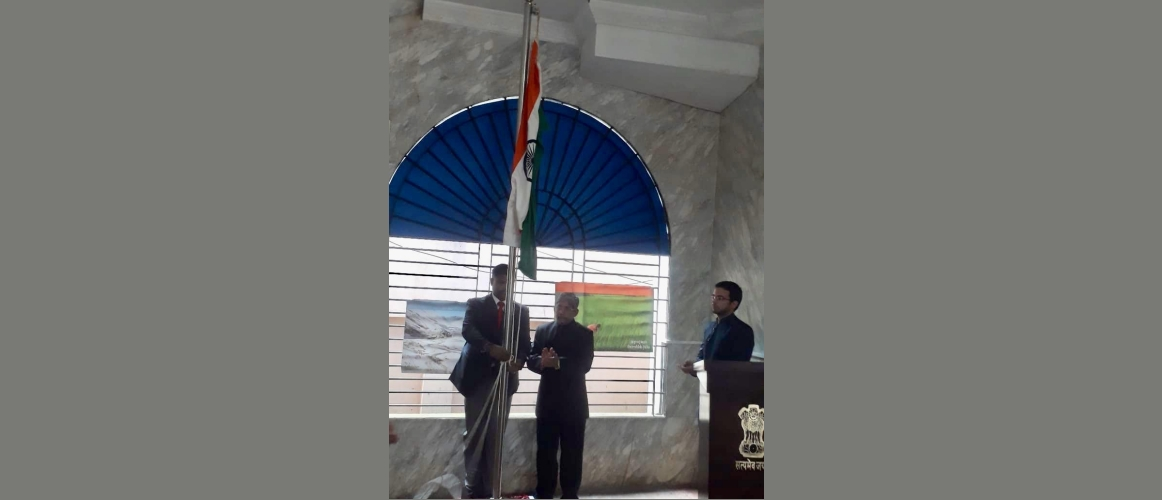15 August 2019<br>73rd Independence Day at the AHCI Sylhet.<br>  AHC Shri Krishnamurthy hoisting the national day at the chancery premises