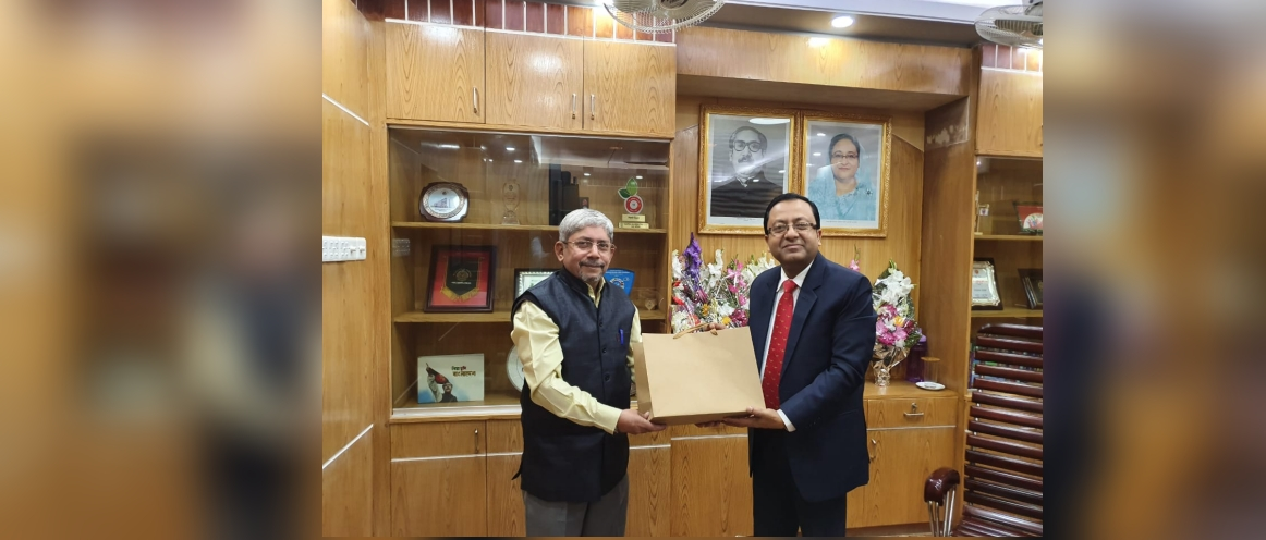 AHC Shri L. Krishnamurthy called on the newly appointed Divisional Commissioner of Sylhet Mr. MD Mashiur Rahman on 16.01.2020.