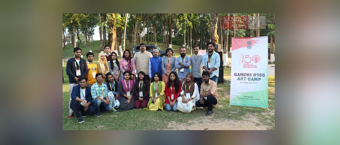 Gandhi@150 Artists Camp organized by HCI Dhaka in Sreemongol 13-14 December 2019.